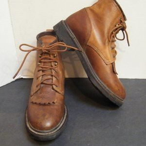 ARIAT Laceup Ankle BOOTS Brown Leather Womens 8 B